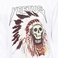 ASOS Skater Long Sleeve T-Shirt With Yeezus Print