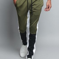 Men's Color Blocked Track Pants