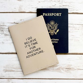 Another Adventure Leather Passport Cover Wallet