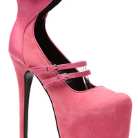 Sky High Bubbly Pink Platform Heels