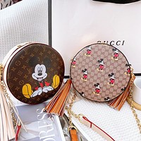 Gucci LV limited edition graffiti version GUCCI X DISNEY Round Bag