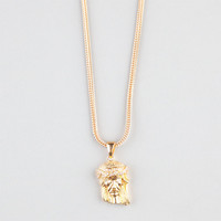 The Gold Gods Micro Jesus Piece Necklace Gold One Size For Men 23971162101