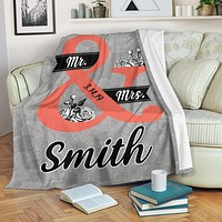 Customized Blanket Mr. and Mrs. With Name & Wedding Year