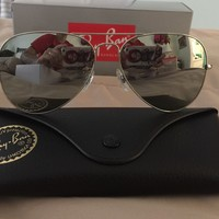 Ray-Ban RayBan Aviator Silver Mirror Lens Sunglasses RB3025 003/40 58MM NEW