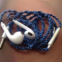 Handmade Wrapped Tangle-Free Earbuds | Rule Breaker| Genuine iPhone EarPods