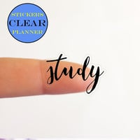 CLEAR Stickers Planner CLEAR Planner Stickers Clear Study Stickers Clear Study Planner Text Stickers Stickers Erin Condren Stickers (i4)