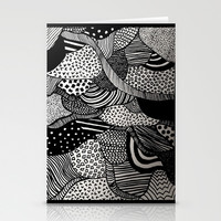 Black and White  Stationery Cards by Urban Exclaim