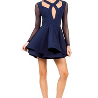 Cheers Darling Skater Dress - Navy - FINALSALE