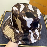 LV Louis Vuitton New fashion monogram print couple fisherman hat cap