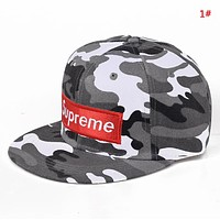 Supreme New fashion embroidery letter couple camouflage cap hat 1#