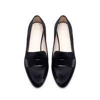 FUR POINTED MOCCASIN - Flats - Shoes - Woman   ZARA United States
