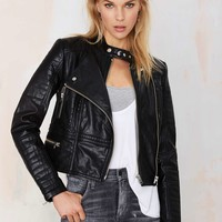 Nasty Gal Ride Out Vegan Leather Moto Jacket