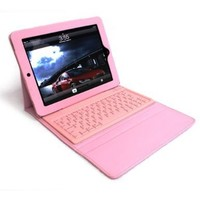 Pink Apple iPad2 boothtooth wireless keyboard PU leather case:Amazon:Computers & Accessories