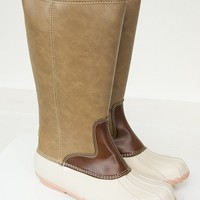 Rubber Tan Rainboots