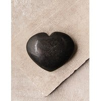 Black Tourmaline Gemstone Heart