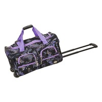 Rockland Luggage, Floral & Butterflies Wheeled Duffel Bag
