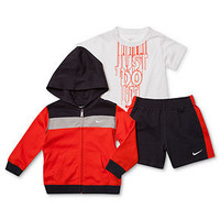 Nike Baby Set, Baby Boys 3-Piece Just Do It Tee, Jacket and Shorts - Kids Baby Boy (0-24 months) - Macy's