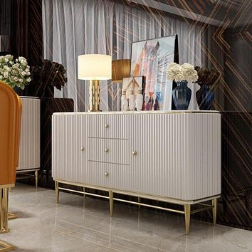 Simple Small-Sized Sideboard Cabinet With Multi-Function Storage
