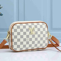 Louis Vuitton Women Fashion Leather Crossbody Satchel Shoulder Bag