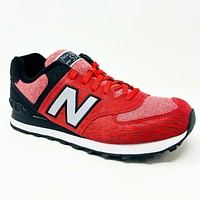 New Balance 574 Sweatshirt Classics Red Black ML574TTB Mens Running Shoes