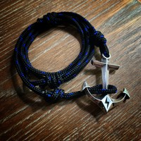New Release! STRENGTH Hold Fast Anchor Bracelet - Sterling Silver on Paracord