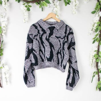Vintage Marled Cropped Sweater