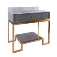 Owen Grey Lacquer Bath Vanity