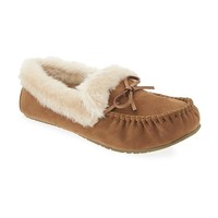 Old Navy Suedes Sherpa Trim Moccasin Slippers