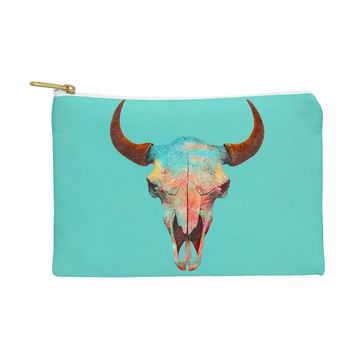 Terry Fan Turquoise Sky Pouch