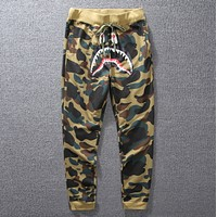 Bape Aape Fashion New Camouflage Women Men Sports Leisure Pants