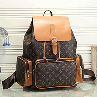Louis Vuitton LV classic fashion men and women large capacity backpack luggage bag