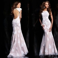 ★2013 Long Mermaid Party Formal Evening Ball Prom Cocktail Dresses Wedding Gown★