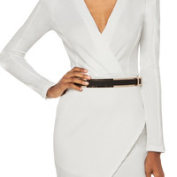 Robin - White Belted Dress