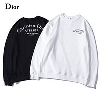 DIOR 2018 autumn and winter new Atelier letter LOGO printed pullover sweater F-A-KSFZ