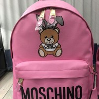 DCCK MOSCHINO WOMEN'S LEATHER BACKPACK BAG