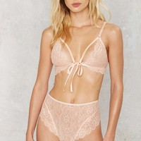 Nasty Gal Show Don't Tell High-Waisted Panty