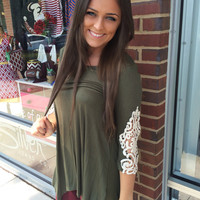 Every Part Of Me Top - Olive Green