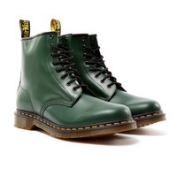 Dr Martens 8 Eye Classic Boot Green - New In at The Idle Man