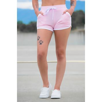Candy Pink Contrast Shorts