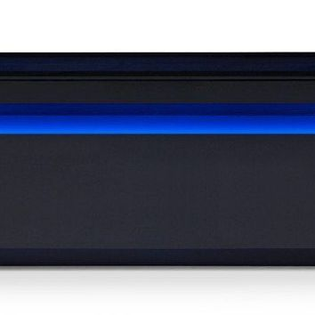Modrest Lowry Contemporary Black TV Stand With Blue LED Light