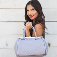 Love Me For Life Medium Quilted Handbag in Lilac Luster