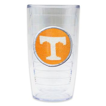 University of Tennessee Power T Needlepoint Tumbler by Smathers & Branson