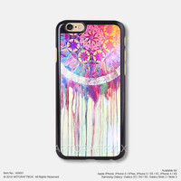Watercolor Painting Dream Catcher iPhone Case Black Hard case 493