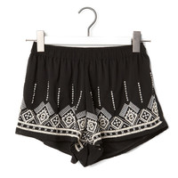 ECRU SHORTS WITH EMBROIDERY DETAIL - TROUSERS AND SHORTS - WOMAN -  United Kingdom