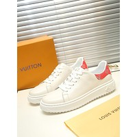 lv louis vuitton men fashion boots fashionable casual leather breathable sneakers running shoes 548