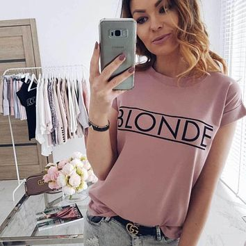 Blonde and Brunette Tee's