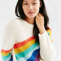 Ecote Limited Rainbow Intarsia Crew-Neck Sweater