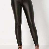 Black Coated Skinny Pant | Skinny Pants | rue21