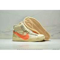 Nike Blazer Mid x OFF WHITE co-branded high tide casual sports running shoes