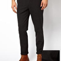 ASOS Skinny Fit Smart Trousers In Jersey at asos.com